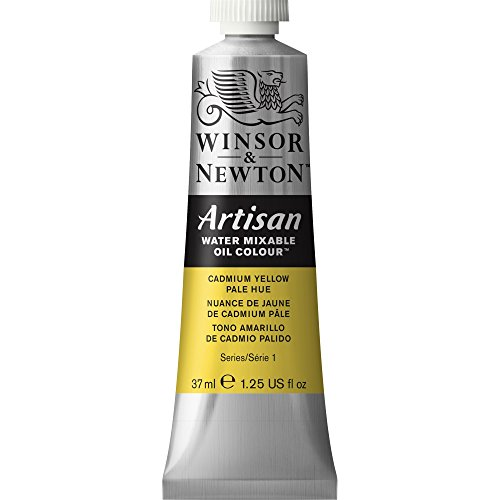 Winsor & Newton 1514119 Artisan Water Mixable Oil Color, 37ml, Cadmium Yellow Pale Hue (Oil Colors Cadmium Yellow Pale)