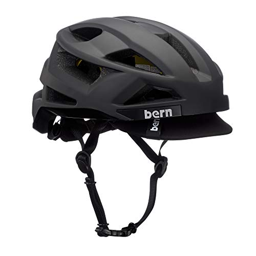BERN - FL-1 Pave Helmet, MIPS Matte Black w/Visor, Medium (Best Looking Bike Helmet)