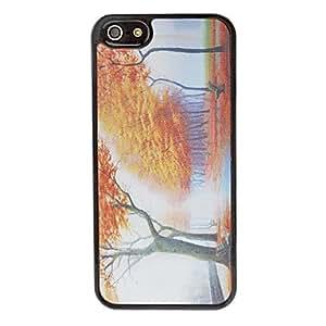 GDW 3d caso arce bosque imagen romántica duro para el iphone 5/5s