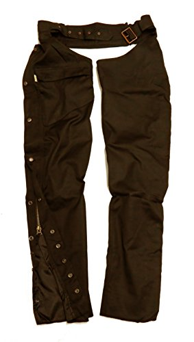 KakaduTraders Australia Ventilator Riding Chaps Made from Oilskin Canvas (Utility Ventilator)