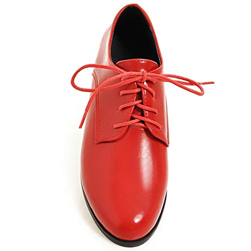 Color up Lace Oxfords Vintage Shoes Oxford Flat Women's Cicime Red Pure axEqwp