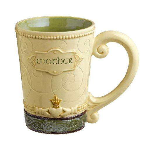 Grasslands Road Irish Mother Mug Cup Ceramic Celebrating Heritage, 13 ounces