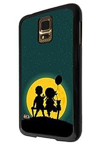 870 - Cute Boy & Girl Bench Teddy BearDesign For Samsung Galaxy S5 i9600 Fashion Trend CASE Back COVER Plastic&Thin Metal