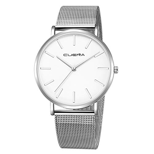 Watches for Mens,Willsa Luxury Watches Quartz Watch Stainless Steel Dial Casual Bracele Watch