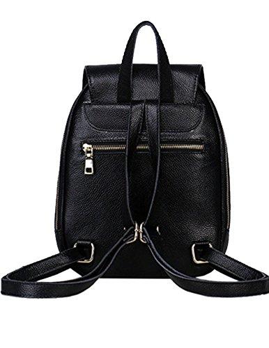 Lady Spalla Donne Di Backpack Scuola Dello Genuine Leather Blu Della Zaino Moda Menschwear Bag Nero Tl1JKcF3
