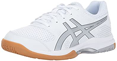 ASICS Womens Gel-Rocket 8 Volleyball Shoe, Silver/White, 6.5 Medium US