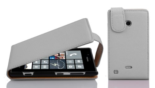 Cadorabo - Funda Flip Style para Nokia Lumia 720 de Cuero Sintético - Etui Case Cover Carcasa Caja Protección en AZUL-REAL BLANCO-MAGNESIO