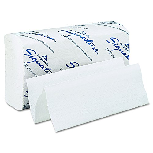 Georgia Pacific Professional 21000 Signature Multi-Fold 2 Ply Paper Towel, 9 1/5 x 9 2/5, White, 125 per Pack (Case of 16 Packs)