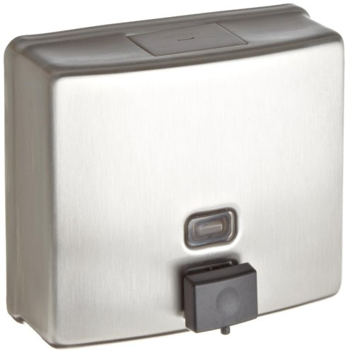 Bobrick 4112 ConturaSeries Surface-Mounted Soap Dispenser, 40oz, Stainless Steel Satin (Soap Dispenser Wall Commercial compare prices)