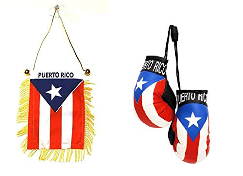 (Flagline Puerto Rico - Boxing Glove and Window Hanger Combo)