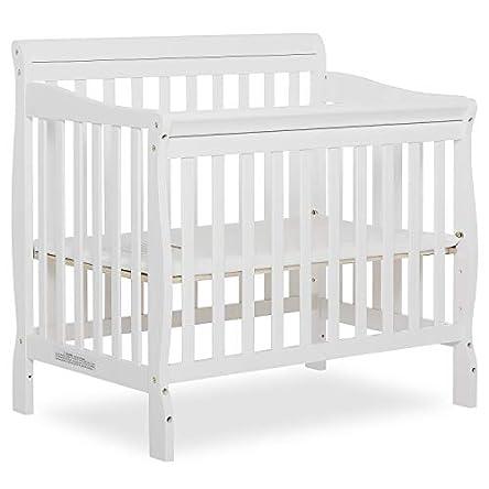 Dream On Me Aden 4-in-1 Convertible Mini Crib in White,...