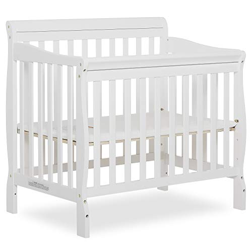 Dream On Me 4 in 1 Aden Convertible Mini Crib 1 Drop Side Convertible Crib