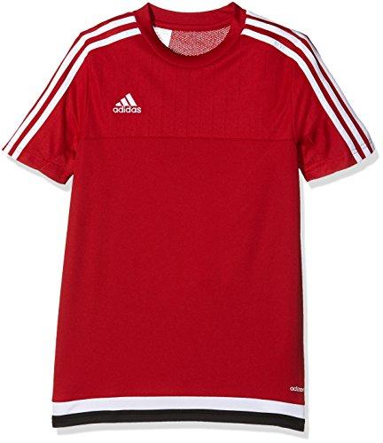 adidas Kinder Trikot/Teamtrikot Tiro15 training js y, power rot/Weiß/schwarz, 164, M64063