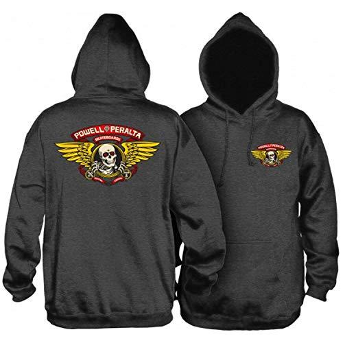 Powell-Peralta Skateboard Hoodie Sweatshirt Winged Ripper Charcoal Size S -  CSHPPCWRC