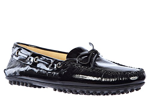 Car Shoe mocassins femme en cuir naplak noir