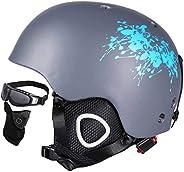 Ski Helmet Integrally-Molded Skiing Helmet for Adult and Kids Snow Helmet Safety Skateboard Ski Snowboard Helm