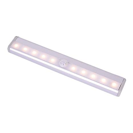 vollter 10pcs LED recargables Tubo Fluorescente Manguera de luz automático inalámbrico Removable portátil de Sensor Leuchten