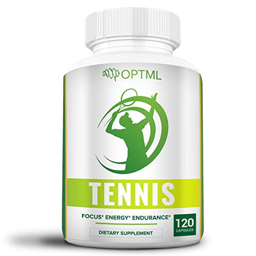 OPTML Tennis Performance Supplement | Increased Focus | Enhanced Energy | Reduced Stress | Improved Endurance | Boosts Muscle Memory | Play Better | Win More (120 Capsules)