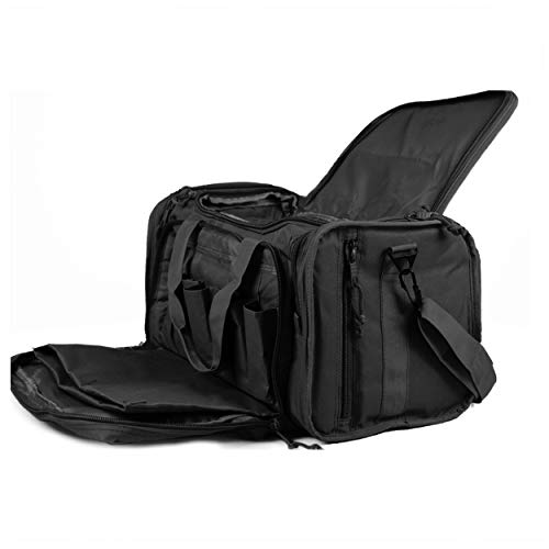 Osage River Tactical Shooting Gun Range Bag (Black, Standard (18 x 13 x 10) Inches)