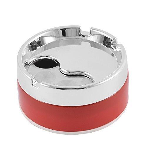 Inicio giratorio en forma de cigarrillos de tapa caja del sostenedor del cenicero redondo del metal DealMux DLM-B01G3PWW9C