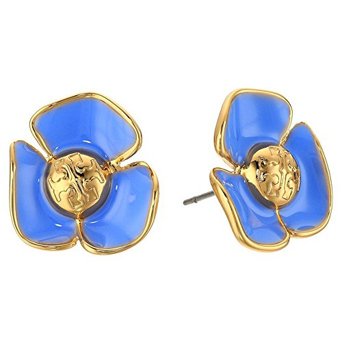 Tory Burch Earrings Fleur Studs Flowers TB Logo - Rings Burch Tory