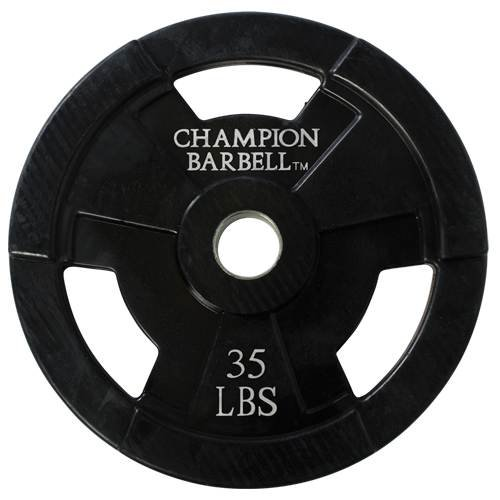 Champion Barbell Olympic Rubber Coated Grip Plate