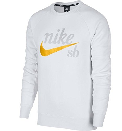 Ochre yellow Nike Icon Top Crew White qIYYX8x