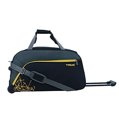 Timus Dynamite Black 2 Wheel Trolley Bag for Travel Duffel Strolley