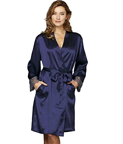 Julianna Rae Women's Bonsoir 100% Silk Wrap, Indigo, XXL - Indigo Silk Wrap