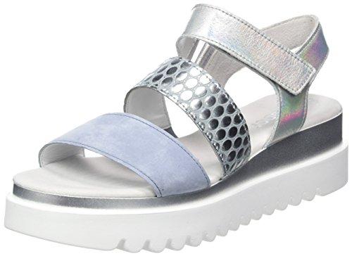 Sandales Bleu Shoes Gabor Jollys Cielo Gabor Silber Bride Cheville Femme Aqua wpw0gqt
