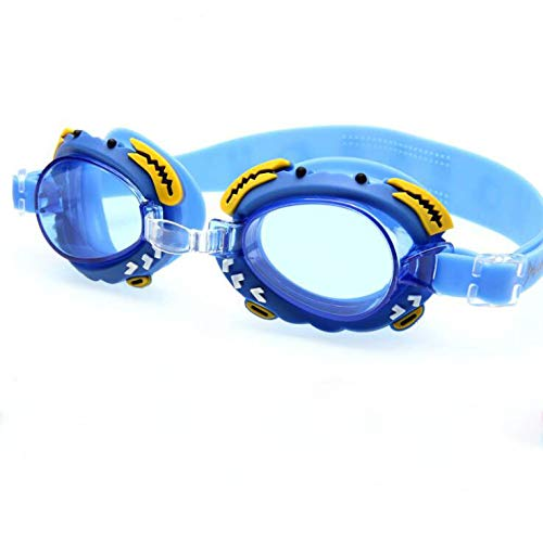 (Kids' Swimming Goggles with Anti-fog Waterproof Crab 100% UV Protection 100% Silicone Soft Gasket Cool Cute Cartoon Animals Swimming Glasses for Boys & Girls Teens)