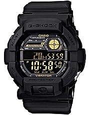 Casio G-Shock Digital Black And Gold Gd350-1 Watch
