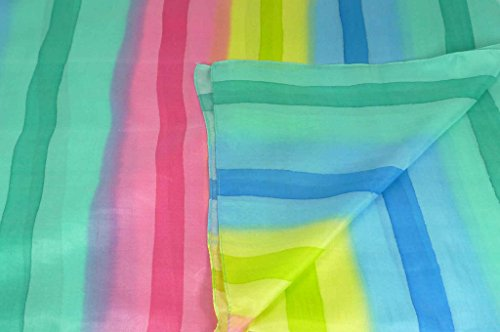 Soie du Mûrier Foulard Teinte Individuellement à la Main Ratra Palette de Rainbow Gamme Classic de Pashmina & Silk