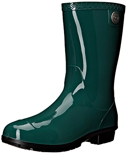 UGG Women's Sienna Rain Boot, Pine, 8 B (Shaft Rain Boot)