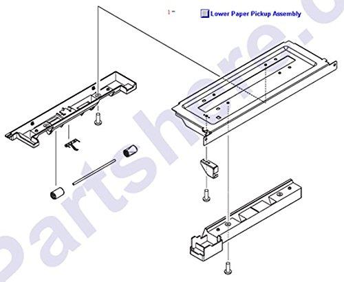- HP RG5-7530-000CN Paper pickup assembly - 2 X 500 sheet feeder lower paper pickup
