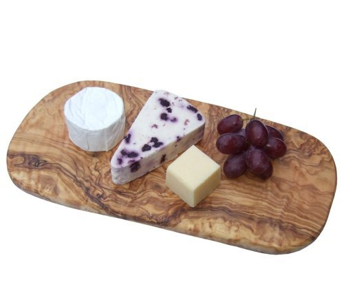 Naturally Med Olive Wood Cheese Board 14'' with Set of 3 Cheese Knives by Naturally Med (Image #3)