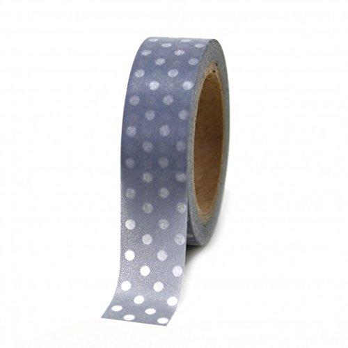 Wholesale Chinese Dresses - Dress My Cupcake Washi Paper Tape, Polka Dot, Gray