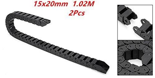 Cable de plástico de tipo abierto para arrastre, 1 m de largo, 7 mm x 7 mm, 2 unidades