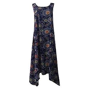 Landove Vestido Tirantes Mujer Largo Estampado Floral Maxi Dress | DeHippies.com