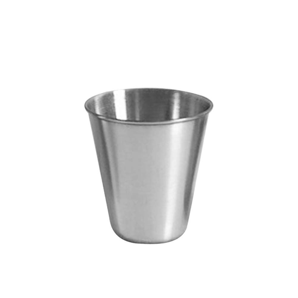 osierr6 Stainless Steel Drinking Pint Cups, Unbreakable Stackable Drinking Pint Cups Tumblers Cups, Juice Beer Cup for Home Kitchen, Coffee Shop, Restaurant etc(70ml)