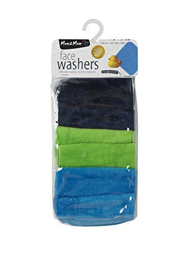 by Mum 2 Mum Navy//Teal//Lime Mum 2 Mum Face Washers