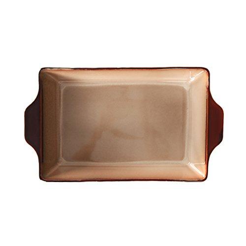 WHITEPEONY Bricks Teal Stoneware Rectangular Baker, 9-Inch x 13-Inch