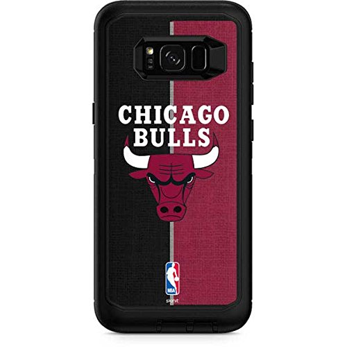 - Skinit Chicago Bulls Canvas OtterBox Defender Galaxy S8 Plus Skin for CASE - Officially Licensed NBA Skin for Popular Cases Decal - Ultra Thin, Lightweight Vinyl Decal Protection