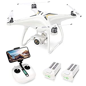 Drone with 1080P Camera with 2-Axis Self-stabilizing Gimbal 5G FPV Live Video and GPS Return Home, JJRC JJPRO X6 RC Quadcopter for Adults with Brushless Motor in 23+23 Mins Flight Time, Follow me 41hjsFaZ2hL