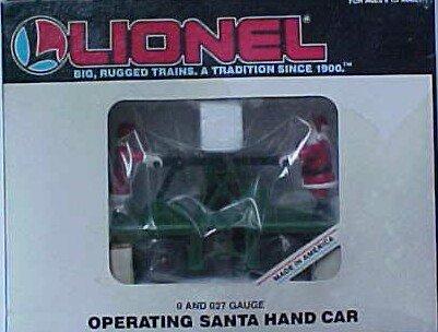 - Lionel 6-18403 Operating Santa Claus Hand Car Christmas motorized