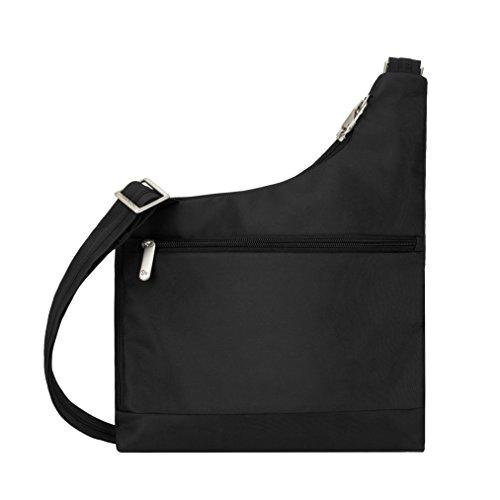 Travelon Anti-Theft Cross-Body Bag, Black, Two Pocket