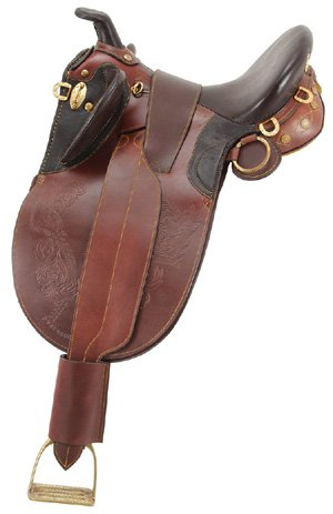 Stock Saddle Australian - Australian Outrider AOC Stock Poley Wide Tree Saddle w. Horn 17in