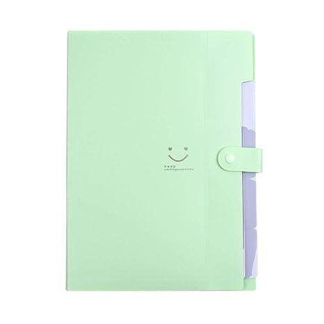 Nuevo 4 colores A4 Kawaii Carpetas Smile Carpeta de archivos de ...