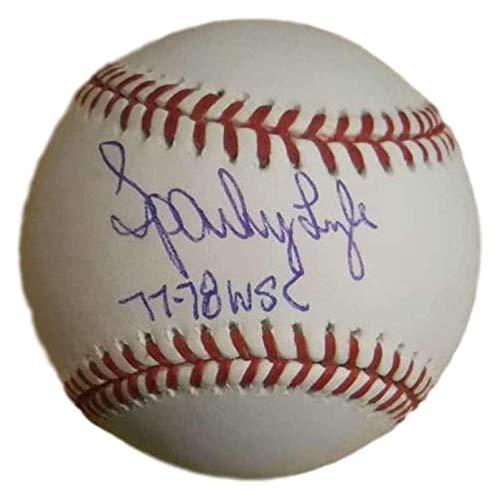 Sparky Lyle Autographed New York Yankees OML Baseball 77-78 WSC SGC 20018 - Baseball Slabbed Autographed Cards