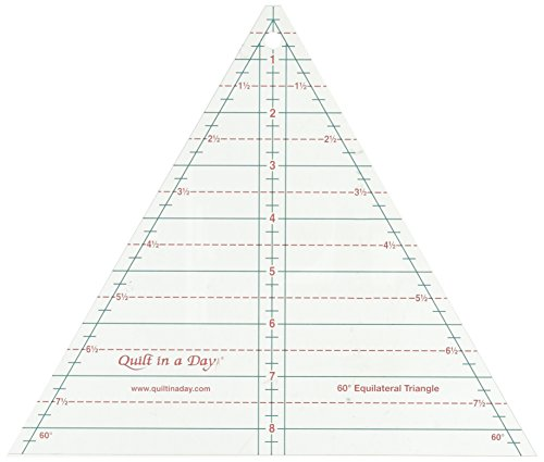 - Quilt In A Day 2046 60 Degree Equilateral Triangle Ruler, 8.5